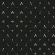 Zoomie Kids These not-so-scary skulls and crossbones are the icons of a band of merry buccaneers. The small design forms vertical and horizontal lines on a solid background. Skull Wallpaper, Kids Wallpaper, Black Wallpaper, Wallpaper Roll, Kawaii Wallpaper, Wallpaper Ideas, Screen Wallpaper, Pattern Wallpaper, Washable Wallpaper