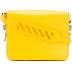 ff7d70c6d3e8 Off-White Sculpture Binder Clip bag (4.425 BRL) ❤ liked on Polyvore  featuring bags
