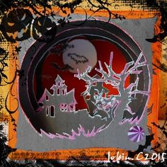 kirigami box halloween