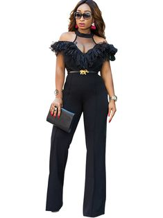 f7b9c244ed5c Perspective High-Waist Floral Women s Palazzo Jumpsuits