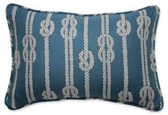 Waverly Kids Set Sail Sailor Knot Oblong Throw Pillow in Blue Complete your nautical escapades by topping your bedding with the Set Sail Throw Pillow from Waverly Kids. #ad #beachhouse #nautical #pillows #homedecor