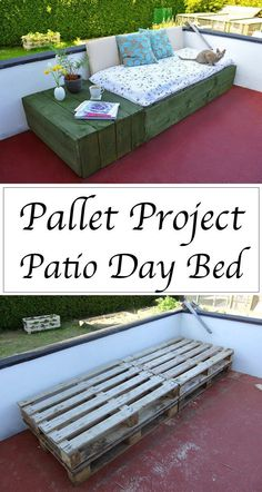 A daybed on your patio or porch can be so lovely for napping outside over the summer months. Learn how to make an easy DIY Daybed using pallets for cheap -- and then relax all summer long!