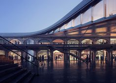 Thomas Heatherwick reveals plans for a canal-side shopping centre in London's King's Cross.