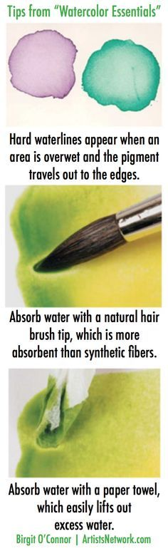 Thank you Birgit O'Connor! :) Watercolor for beginners - simple solutions to common problems at ArtistsNetwork.com. #watercolor #painting #art