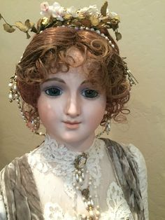 3' Lady Grace Bisque antique reproduction doll