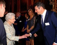The Queen meets singer Tony Hadley at Buckingham Palace this evening