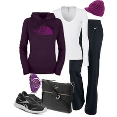 A fashion look from November 2012 featuring Splendid tops, The North Face activewear tops and NIKE activewear pants. Browse and shop related looks.