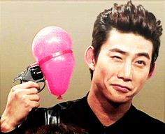 """Intense."" - 2PM Taecyeon ♡ (GIF) His face while he's waiting for it to pop XD"