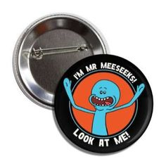 Mr. Meeseeks Rick and Morty Button