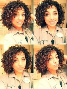 .cute short curly hair