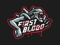 "Logo for Gaming Lounge ""First Blood"""