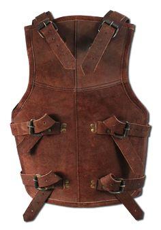 Ready for Battle Lederrüstung Viking   Diese Torsorüstung besteht aus robustem Leder und verleiht jedem jungen Wikinger ein filmreifes Aussehen auf einem LARP oder Mittelaltermarkt. Die Rüstung wird mit Schnallen am Rücken befestigt...