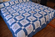 50 State Birds Amish Embroidered Quilt by QuiltsByAmishSpirit