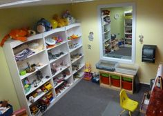 play therapy rooms | The Green House Center's Filial Play Therapy Room)