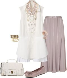 """Long over long-Maxi skirt :)"" by musicfriend1 on Polyvore"