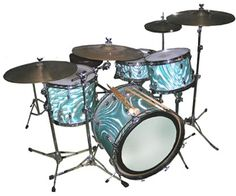 60's Gretsch Drum Set Aqua Blue Swirl Gretsch Drums, Vintage Drums, How To Play Drums, Drum Sets, Percussion, Aqua Blue, Nifty, Beats, Music Instruments