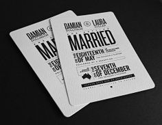We have to be honest - we're so tired of MOST wedding invitations. Not this one! Terry Dee: Art Director / Bonus Features via Designspiration