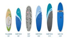 Our SUP boards catal
