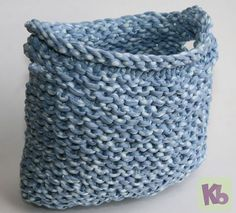 Loom Knitted Basket « Knitting Board Blog