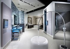 Fixtures Living Showroom, water working  bathroom sinks to explore....we can set you up on a tour of the show room.