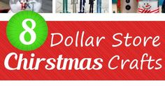 These Dollar Store Christmas Crafts are so simple and inexpensive. Dollar Store Christmas, Christmas Crafts, Craft Organization, Holiday Wreaths, Dollar Stores, Diy And Crafts, Diy Projects, Simple, Handyman Projects