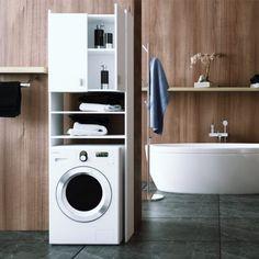 Praktikus szekrény - fehér, mosógép szekrény