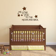 'Love You To The Moon And Back' Wall Sticker - decorative accessories