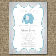 Baby Shower Invitation Boys DESIGN Blue & by AccuColorWeddings, $19.00