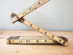 Wooden Engineers Scale Folding Ruler.