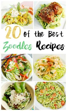 20 Delicious Zoodle Recipes - Have you tried zoodles yet? Zoodles or Zucchini Noodles are a great carb and gluten free alternative to pasta, and they are delicious too! Great for vegetarian meals! via (Gluten Free Recipes Zucchini) Zucchini Noodle Recipes, Veggie Recipes, Beef Recipes, Pasta Recipes, Vegetarian Recipes, Cooking Recipes, Healthy Recipes, Vegan Zoodle Recipes, Delicious Recipes