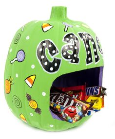 Carvable Pumpkin Candy Bowl #halloween #craft #pumpkin