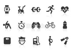 Fitness icons | Stock Illustration | iStock