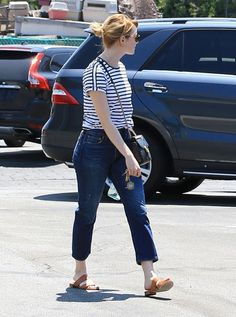#EmmaStone out in  Los Angeles  in #mansurgavriel sandals and #gucci bag! # streetstyle #dailylook   from @EmmaStoneDaily's closet #mansurgavriel
