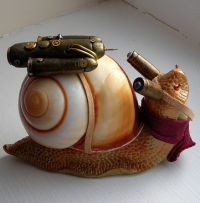 Archibald the steam snail won the race - with a little help.