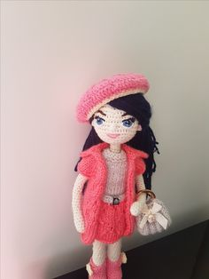 Your place to buy and sell all things handmade Knitted Dolls, Crochet Dolls, Hand Crochet, Crochet Hats, Custom Dolls, Amigurumi Doll, Fabric Dolls, Art Dolls, Gifts For Kids
