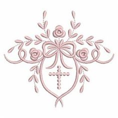 Ace Points Embroidery Design: Christening Heirloom 3.78 inches H x 4.30 inches W