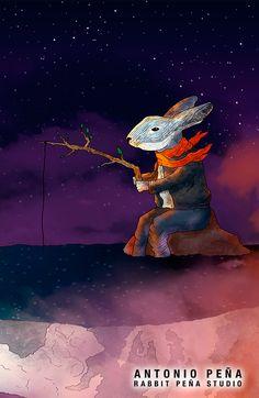 """""""luces"""" Illustracion por: Antonio Peña / Rabbit Peña Studio Illustration  #illustration #design #art"""