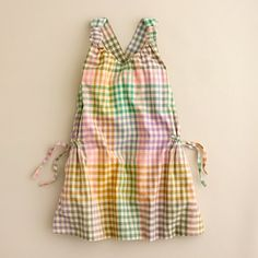 crewcuts Tea-Stained Gingham dress  size 3, runs wide