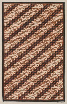 Sample of cotton batik with design of diagonal broken dagger pattern  (parang) in dark blue c0a9565470