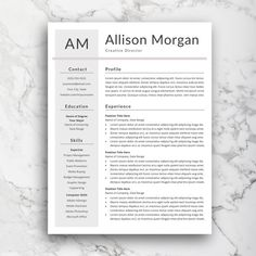 References Page Resume Professional 4 Page Resume Template  Cv Template Cover Letter  .