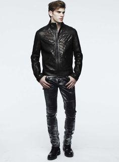Leather Jacket, Jeans.