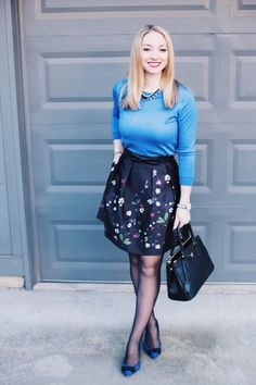 Styling a floral satin skirt for the winter to spring transition. #ShopStyle #MyShopStyle #ootd #mylook #shopthelook