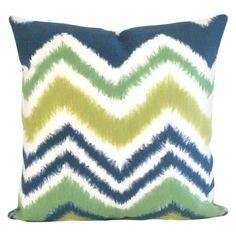 Liora Manne Zigzag Ikat Decorative Indoor/Outdoor Pillow