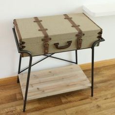 Vintiquewise Antique Style Storage Trunk Accent End Table-QI003275L - The Home Depot
