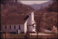 Small Methodist Church Stands Next to the West Virginia Turnpike near Beckley in the Heart of the Coal Country. Many Churches Like This Dot the Countryside and Serve the Miners, Most of Whom Have Fundamentalist Beliefs.