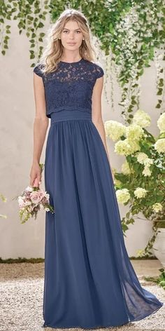 Magbridal Delicate Lace & Chiffon Jewel Neckline A-line Brid.- Magbridal Delicate Lace & Chiffon Jewel Neckline A-line Bridesmaid Dresses With Detachable Jacket Delicate Lace & Chiffon Jewel Neckline A-line Bridesmaid Dresses With Detachable Jacket - Navy Bridesmaid Dresses, Lace Bridesmaids, Homecoming Dresses, Wedding Dresses, Bridesmaid Skirt And Top, Bridesmaid Outfit, Long Skirt Outfits, Elegant Dresses, Evening Dresses