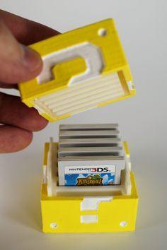 DIY 3-D Printed Mario Question Block Nintendo 3DS Game Cartridge Holder