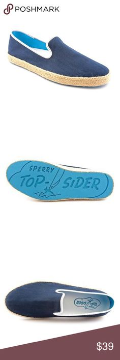 Sperry Top Sider Men's 'Drifter Espadrille 10M New Give your casual look some summer love with the Sperry Top Sider Drifter Espadrille shoes. These shoes come in canvas with jute wrapping around the midsole for a summertime vibe. Bold linings add a visual pop. The EVA footbed lends all-day cushioning. Wave-Siping on the rubber sole gives traction on wet and dry surfaces. Sperry Top-Sider Shoes Loafers & Slip-Ons