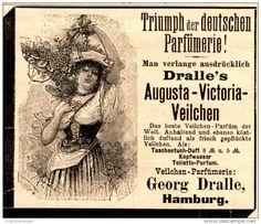 Original-Werbung/ Anzeige 1894 - DRALLE'S AUGUSTA-VICTORIA VEILCHEN PARFÜM - ca. 80 x 75 mm