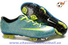 detailed look 803ef 00bbe Nike Mercurial Vapor Superfly III FG Safari Vert Bleu FT7219 Cheap Soccer  Cleats, Nike Soccer